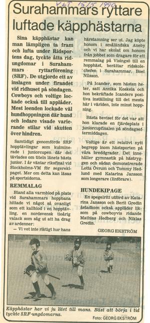 Redan 1990 var käpphästar stort hos de små ryttarna i Surf...