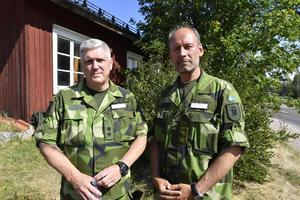 Generalmajor Urban Molin och överste Anders Persson.