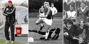 Kenth Persson har varit en stor profil inom länsfotbollen under fyra decennier och han sörjs nu av många. Akrivbilder: ÖP (Montage)