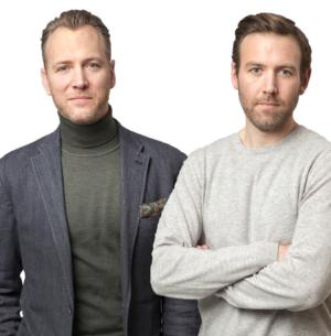 Christian Ekström, vd Skattebetalarnas Förening och Johan Gustafsson, Slöseriombudsmannen,  vill se sparsamhet och effektivitet i offentlig verksamhet. Bild: Skattebetalarna