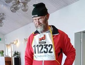 Matz Bylund kåserade om sina äventyr i Vasaloppsspåret.Foto: Lars-Ivar Nilsson