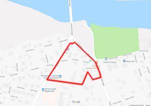 Kommunen håller på att ta fram en ny detaljplan för området vid Åkerö brofäste. (Karta: Google)