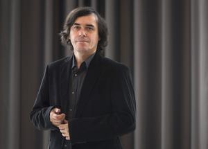 Den rumänske författaren Mircea Cartarescu  var årets affischnamn på Bok & Bibliotek i Göteborg Foto: Fredrik Sandberg / TT.