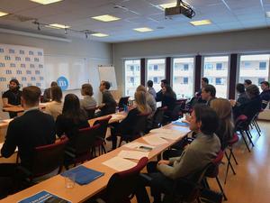 MUF:s distriktsstämma samlade ett 30-tal medlemmar i Borlänge. MUF Dalarna