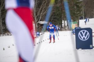 Axel Eriksson, Myssjö-Ovikens IF, skidade in som 58:e åkare.