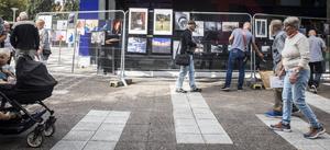 Folkare fotoklubb hade en utställning utanför Avesta galleria.