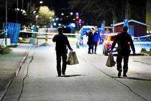 Arkivbild från Emausgatan natten till fredag, 28 april 2017.