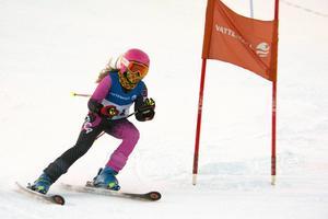 Alice Johansson, Nolby Alpina, blev 25:a i klassen D11-12.