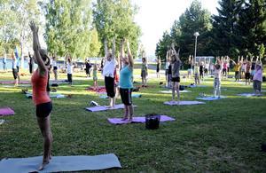Fokus under sommarens yogaskola är de fysiska delarna av yogan.