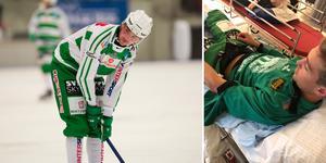 Robin Andersson blir borta i några veckor till efter olyckan på träningen i fredags. Foto: Andreas Tagg/Privat