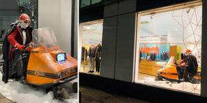 Här står Ockelbo-skotern mitt i centrala London. Foto: Ockelbo-collection.