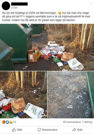 Ett av inläggen som florerat i de olika Facebookgrupperna för falubyarna. Här gäller inlägger Enviken.