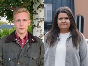Jesper Lindgren, förste vice distriktsordförande MUF Dalarna och Matilda Ekeblad, förbundsordförande MUF. Foto: Privat