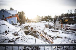 Det blir fortsatt avstängt vid Gällö skog i korsningen Strandvägen - Hemvägen - Centralgatan till 20 december.