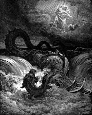 Gustave Dorés tolkning av Leviatan från 1865.