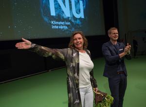 Miljöpartiets språkrör Isabella Lövin och Gustav Fridolin. Foto: Peter Krüger/TT