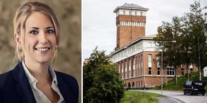 Mariette Boström öppnar Hoome mäkleri på Tobaksmonopolet i Härnösand.