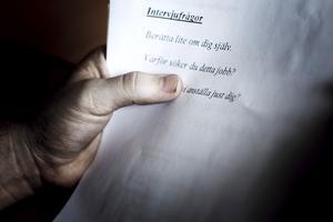 Ett bra CV kan vara ovärderligt på en anställlningsintervju. Foto Simon Paulin
