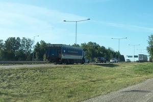 Trafiken påverkades kraftigt under tiden som insatsen pågick. Här börjar kön vid Södertälje Syd.