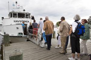 Havsörnen är en av de båtar som har gått på sommarens ö-turer, här under en färd under en tidigare sommar.