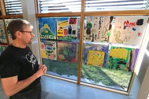 Hardemo förskoleklass med sina olika bilder på temat