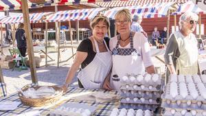 Birgitta Andersson och Gunnevi Eldstål jobbar ideellt på hembygdsgården och rekommenderar det varmt.