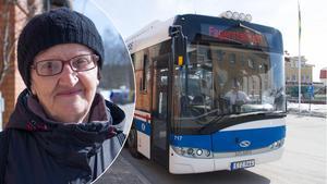Ana Miskovic är en av bussresenärerna som gläds åt att en del av kollektivtrafiken blir gratis.