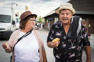 Dan och Gunilla Andersson är på besök från Karlstad.
