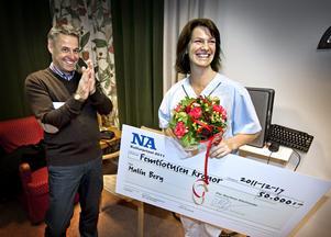 Malin Berg fick priset 2011. NA Arkiv: Håkan Risberg