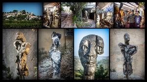 Konstnärernas närvaro har starkt präglat byn Joucas.