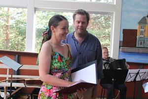 Astrid Robillard och Andreas Franzén i en ovanlig duett för baryton och mezzosopran