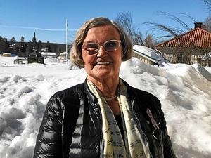 Britt-Marie Nordlöf firar födelsedagen på hemlig ort.