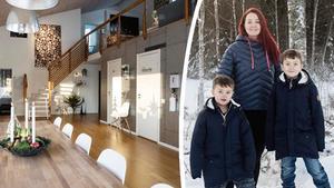 Hanna Oskarsson tillsammans med sönerna Albert och Alvar.Bild: Hanna Persson/montage