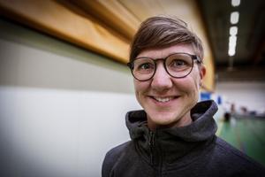 Karolina Östlund i sporthallarna på Lugnet.
