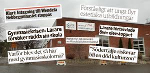 Intagningsstoppet på Wendela Hebbegymnasiet har skapat många rubriker i LT. Foto: Arkivbild