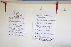 Gruppens riktlinjer för trivsel.