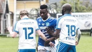 Isaac Boye gjorde 14 mål på 30 matcher för Umeå FC som tog sig upp i superettan via kval mot Frej. Boye säkrade platsen i superettan efter ha gjort båda målen i 2–2-matchen på bortaplan när Umeå gick upp på bortamål.
