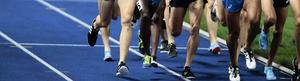 DM-segern på 3 000 meter hinder gick till Trångsviken och Mustafa Maher. Fotoillustrering: TT