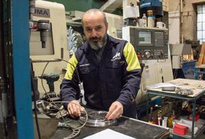Basem Habib, nyanställd i Midrocs mekaniska verkstad i Hofors.