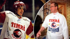 Peo Larsson var med och lyfte upp Henrik Zetterberg i Timrå IK:s A-lag.