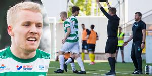 Simon Johansson bytte av Jonas Hellgren i 23:e minuten mot Frej.   Foto: Anders Forngren/Bildbyrån