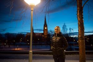 Hemma igen. Johanna Sollerman kunde fira jul tillsammans med sin pappa i Sundsvall.