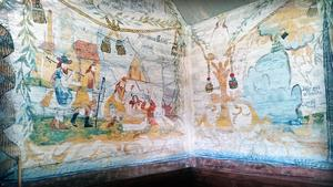 Väggmålning i Trysunda kapell. Foto: Grazyna Kaminska