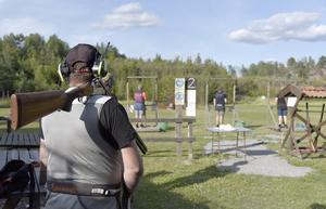 Vid Södertörns jaktvårdsförenings skjutbana i Tyrved i Sorunda.