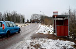 Både att gå till busshållplatsen på vägen och att stå där och vänta kan vara farligt, särskilt om det är halt eller har plogats snövallar, menar Bispbergsborna.