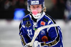Axel Ekholm har gjort tre matcher för Lidköpings AIK den senaste tiden, men målet är att ta sig tillbaka till elitserien.