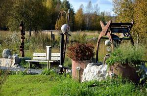 Sinnenas konstpark, Ånge camping. Foto: Arkiv/Micke Engström