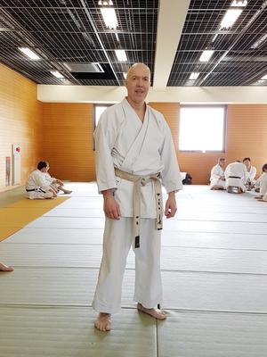 Fred Jarbro 6:th Dan JKF Wadokai från träning i Japan 2018