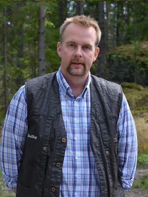 Rickard Kärnell, skogvaktare, Häradsskog. Pressfoto