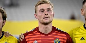 Jacob Rinne före en landskamp mot Finland i januari.